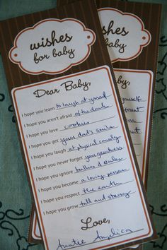 Heirloom Baby Shower: Games and Activities  - www.lilsugar.com I would love it someday if I could plan someone's entire baby shower.