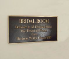 This sign seems traditional and staid. What NOT to do--serif font, bronze.  donor room sign - Google Search