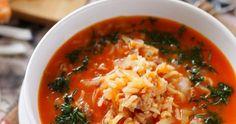 zupa gołąbkowa , kapuśniak z mięsem mielonym i ryżem , danie jednogarnkowe , obiad , kapuśniaczek , zupa z wkładką , kuchnia polska , najlepsze przepisy , kapusta , wieprzowina , ryż , pomidory , zupa leniwej pani domu, zupa mięsno warzywna , Thai Red Curry, Tortellini, Coleslaw, Grains, Food And Drink, Lunch, Cooking, Ethnic Recipes, Fitness