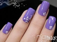 Got some new nail art stuff last week but need to start out simple... this is a really cute design