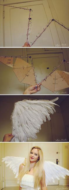 60 ideas diy crafts cheap easy kids christmas for 2019 Costume Ange, Angel Halloween Costumes, Demon Costume, Halloween Cosplay, Diy Costumes, Diy Angel Costume, Angel Halloween Makeup, Costume Women Diy, Angel Makeup