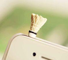 30 OFF Cute Mini Badminton Anti Dust Plug 35mm Smart by Polaris798, $3.49