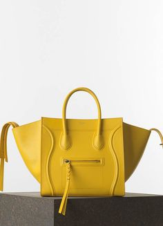 Céline Medium Luggage Phantom Handbag in Yellow Grained Calfskin - want list but in a different color maybe!