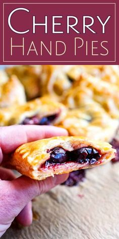 Puff Pastry Recipes, Pie Recipes, Nutella Recipes, Cherry Turnovers, Cherry Hand Pies, Frozen Cherries, Tart Cherries, Cherry Recipes, Deserts