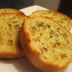 Garlic Bread Spread Allrecipes.com. This is delicious. Not getting store bought garlic bread again.