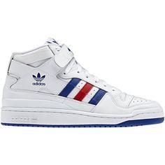 reputable site dc554 9acdd adidas originals forum mid triple white