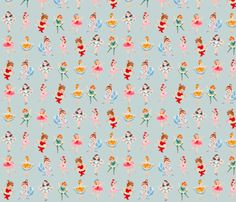 At+the+Ballet+Ballerina+Curtsy+Dance+pose+fabric+by+parisbebe+on+Spoonflower+-+custom+fabric