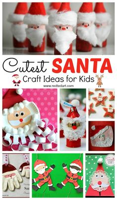 Oh what a gorgeous diverse set of Santa Craft Ideas for Kids! Love how stinking cute these Father Christmas DIYs are indeed. Check them out today and get making! Christmas Crafts For Kids To Make, Christmas Activities For Kids, Easy Crafts For Kids, Toddler Crafts, Christmas Themes, Kids Christmas, Projects For Kids, Diy For Kids, Father Christmas
