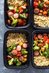 Roasted Sausage, Veggies and Quinoa Meal-Prep