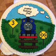 Thomas the train cookie cake www.facebook.com/jannyh.cakes