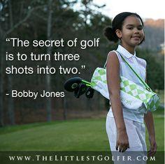 Bobby Jones makes it sound easy,  it is if you 'Start Younger , Play Longer!' #startyoungerplaylonger #thelittlestgolfer