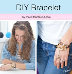 ucreateDIYbracelet-STATEMENT BRACELET TUTORIAL...This one will look great combined with both studs and pearls (I've already done both and loved it!). Hopefully you will have most of the gear in your craft box,