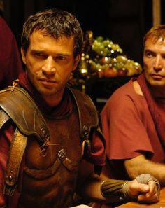 The helmets on HBO's Rome were hand hammered brass.  Costume designer April Ferry said the hand constructed armor weighed a hefty 36 lbs, with the cuirasses being molded by special leatherworkers.  Over 300 armors were created for the series.
