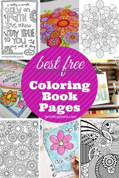 "Coloring books for adults or ""Coloring Books for Grownups"" are everywhere right now! I was just in Barnes & Noble and they had a full display of coloring books right at the entrance to the store. Here are some great free pages to download!"