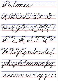 Palmer Cursive, Handwriting Style