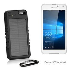 Descendants Costumes Microsoft Lumia 650 Battery BoxWave Solar Rejuva PowerPack 5000mAh Solar Powered Backup Power Bank for Microsoft Lumia 650  Jet Black >>> ** AMAZON BEST BUY ** #SolarCharger Microsoft Lumia, Solar Charger, Technology Gadgets, Solar Power, Cell Phone Accessories, Cool Things To Buy, Jet, Descendants Costumes, Iphone