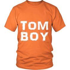 """TomBoy"" (white print) - Unisex Tees"