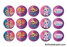 These free printable Shimmer and Shine cupcake toppers would be perfect for making your own cupcakes. If a Shimmer and Shine birthday party is what you are planning and you're looking for something to decorate cupcakes, frost some cupcakes with pink and blue icing and pop these cupcakes on to the cupcakes for an easy …