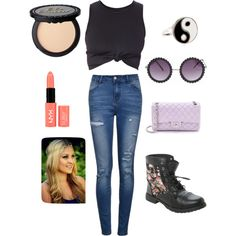 Concert style by lmtomsick on Polyvore featuring polyvore, fashion, style, Ally Fashion, Chanel, Accessorize and NYX