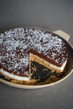 Dessert Recipes 61989 Easy bounty pie without baking chocolate and coconut No Sugar Desserts, Köstliche Desserts, Plated Desserts, Delicious Desserts, Yummy Food, Bread Recipes, Cake Recipes, Dessert Recipes, Butter Pie