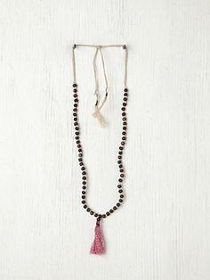 Single Tassel Prayer Bead. http://www.freepeople.com/whats-new/single-tassel-prayer-bead/