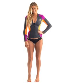 Rip Curl Womens Wetsuit Dawn Patrol Long Sleeve Jacket 1a3ddb7eb
