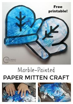 Download the free mitten printable for an easy and fun preschool winter art activity!