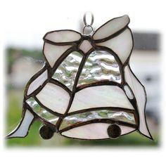 Wedding Bells Suncatcher Stained Glass Handmade British Anniversary £12.50