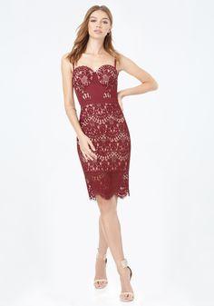 Clarissa Lace Bustier Dress