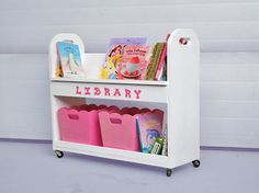 library style book cart plans ~ from Ana White Homemaker