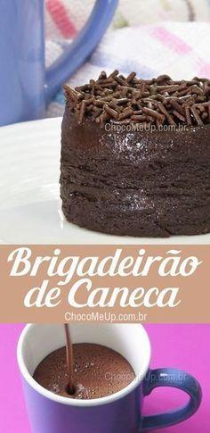 Receita de Pudim Brigadeirão de Caneca