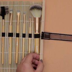Create Tie | Make Your Own Makeup Brush Organizer Super Simple DIY
