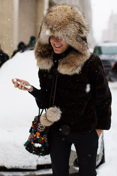 At Ralph Lauren This Snowy Morning