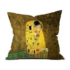 Gustav Klimt - Öpücük Kırlent - Kırlentler - Cipcici Gustav Klimt, Cushions, Throw Pillows, Toss Pillows, Toss Pillows, Pillows, Decorative Pillows, Decor Pillows, Scatter Cushions