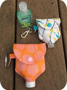 In the Hoop Hand Sanitizer Bottle Holder | Craftsy