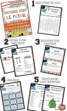 Kit complet des 5 ateliers de littératie prêt à imprimer pour le 5 au Quotidien