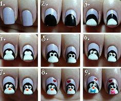 Nail Tutorial PINGUIN
