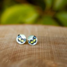Stud earrings with various butterfly images. One pair for $6 or two pair for $10. Please indicate which pair(s) you'd like in the notes section.