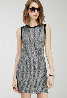 Marled Rib-Knit Ringer Dress | FOREVER21 - 2000114896