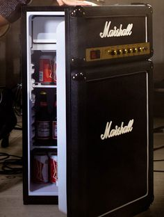 Marshall Stack? Or is it?  Just when you thought that Marshall couldn't not get any better, they go out and decide to give you the ultimate in band gear, what looks like an amp but in reality will keep you cool and hydrated while you rehearse, introdu hey,very useful