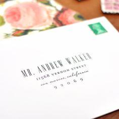 love this addressed envelope