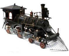 Handmade Antique Tin Model Train-1938 Steam Trains