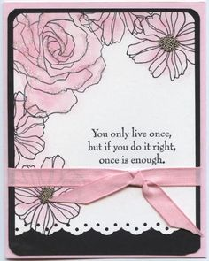 Pink and Black by legoc1 - Cards and Paper Crafts at Splitcoaststampers