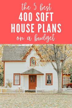 These are the best 5 places to get house plans for 400 - 500 sqft. Including tiny houses, log cabins, cottages, and modern small homes. There's variety in style and size (from rustic to modern and tiny to small). Some of these are formatted to have porches, fireplaces, and lofts. Check them out to see beautiful designs for yourself! This list also includes one of the best places to look for floor plans: Etsy.