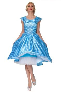 SEXYHER Ladies 1950's Vintage Style Blue Pinup Polka Dot Classic Dress - RBJ1413(UK18,Bi-Color) SEXYHER http://www.amazon.co.uk/dp/B00J961DHA/ref=cm_sw_r_pi_dp_WRONtb0XGDFS60FF