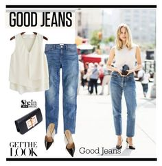 Get the Look: High-Waisted Jeans by paculi on Polyvore featuring J.Crew, highwaistedjeans and shein