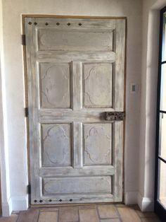 Porte fen tre tierc avec imposte vitr e partie haute for Peinture porte interieure