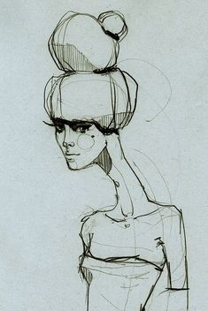 Fashion Sketch - stylish fashion drawing; fashion illustration // Ekaterina Koroleva