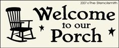 Welcome to our Porch - B