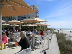 The Turtle Club in Naples, Florida, USA. Located Vanderbilt Beach Resort, you're encouraged to take off your shoes and enjoy the scenery.